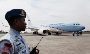 Kedatangan Pesawat Kepresidenan RI