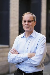 French economist Jean Tirole poses after a news conference at the Toulouse School of Economics in Toulouse